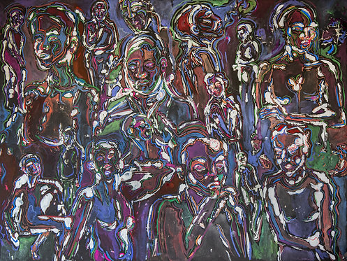 """Insomnia"" Original 24x18 Watercolor"