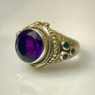 Vivid purple statement ring