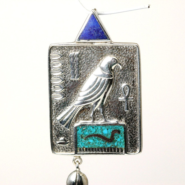 Southwestern themed pendant in sterling