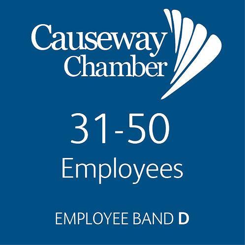 Employee Band D (31 - 50 employees)
