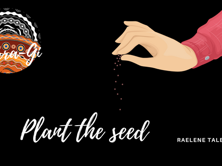 Plant the seed.