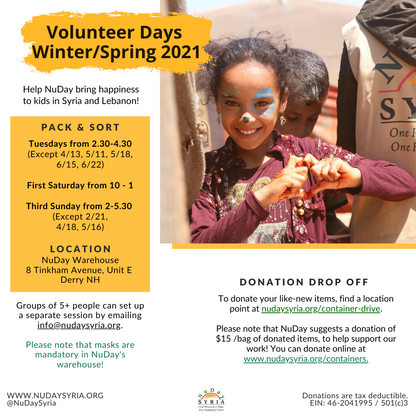 Volunteer Days, Winter/Spring 2021