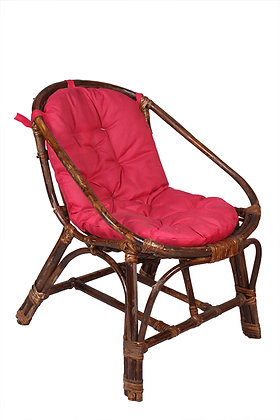Novelty Cane Art Chair With Cushion For Small Spaces