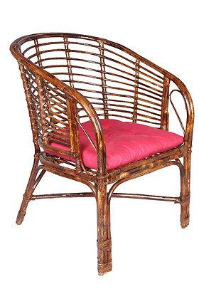 Novelty Cane Art Rattan Elegant Arm Chair with Cushion