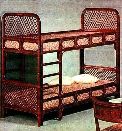 Novelty Cane Art RATTAN BUNKER BED: DB12