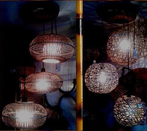 Novelty Cane Art LAMPS SET: HANGINGLAMPS