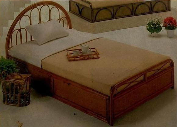 Novelty Cane Art RATTAN DOUBLE BED: DB5