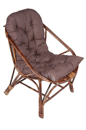 Novelty Cane Art Living Room Rattan Arm Chair with Cushion