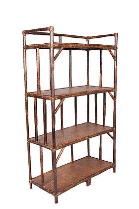 Novelty Cane Art Book Rack with 4 Shelves