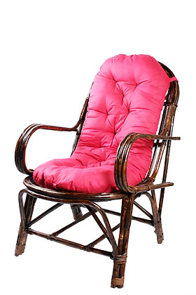 Novelty Cane Art Rattan Easy Chair With Cushion: CH2ITLY1