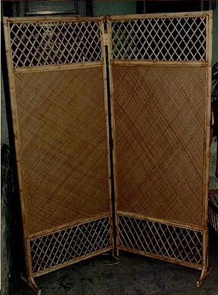 Novelty Cane Art RATTAN AND WICKER PARTITION: PTN4