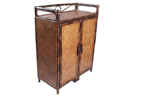 Novelty Cane Art Rattan Cabinet Rack
