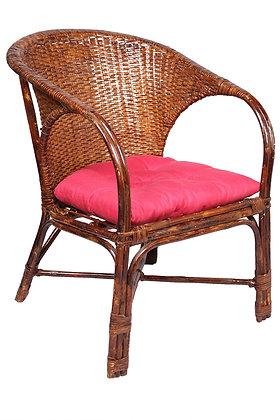 Novelty Cane Art Elegant Wicker Arm Chair With Cushion