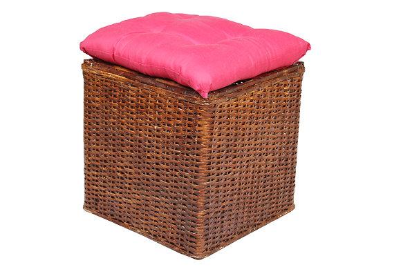 Novelty Cane Art Wicker Square Pouffe(stool): MDWICSQ01