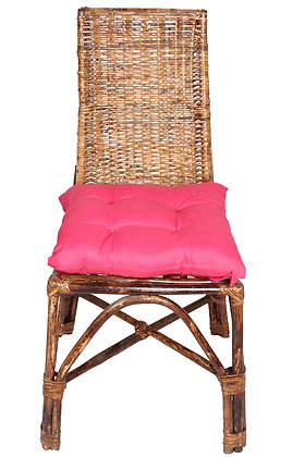 Novelty Cane Art Wicker Triangle Styled Arm Chair with Cushion