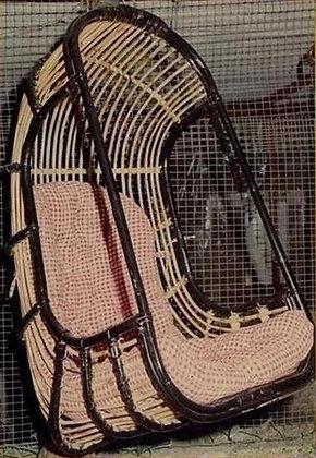 Novelty Cane Art RATTAN BASKET SWING: J7
