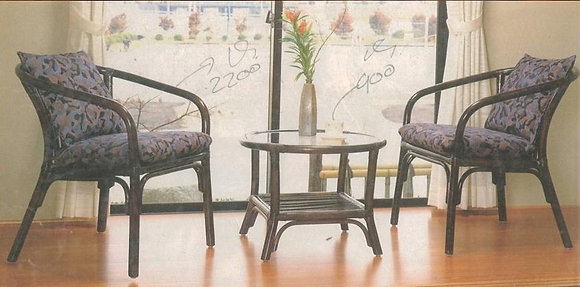 Novelty Cane Art Table and Chair Set