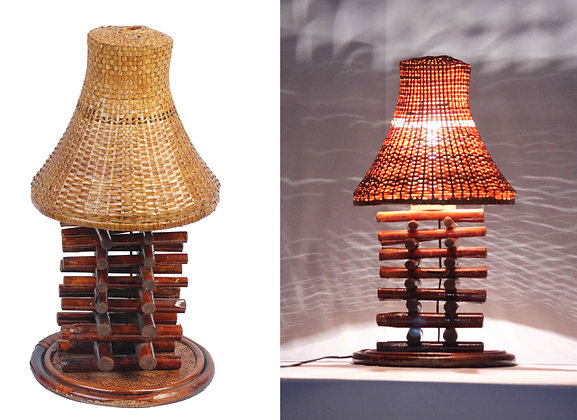 Novelty Cane Art BAMBOO AND CANE TABLE LAMP: TLBB02