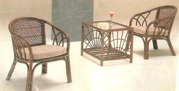 Novelty Cane Art Table and Chair Set : CS3
