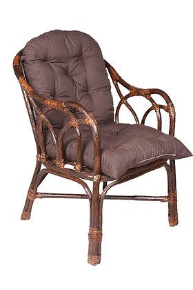 Novelty Cane Art Modern Rattan Living Room Arm Chair With Cushion