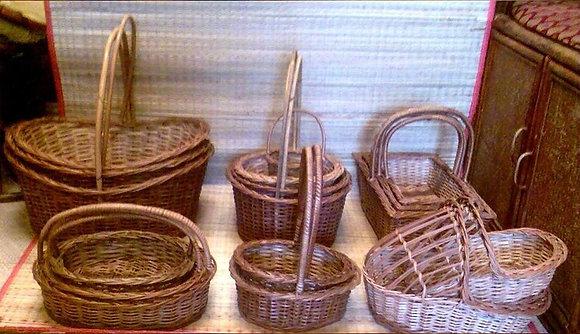 Novelty Cane Art MULTI PURPOSE BASKETS: HANDLEBASKETS