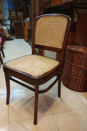 Novelty Cane Art Wooden Chair With Cane Weaving #8