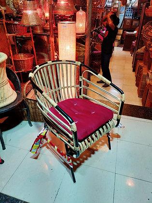 Novelty Cane Art Chair with Cushion #1