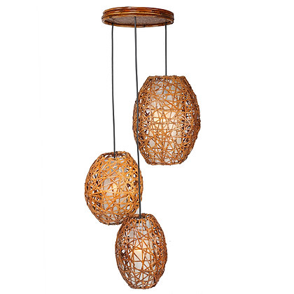 Novelty Cane Art Hanging Rattan Wicker Bamboo Lamp Shade Handcrafted and Natural