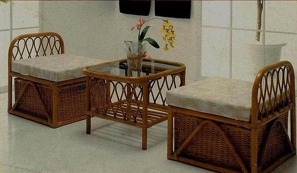 Novelty Cane Art Table and Chair Set :CS3