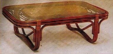 Novelty Cane Art RATTAN CENTER TABLE: CET77