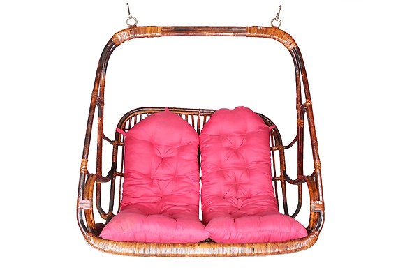 Novelty Cane Art Rattan 2 Seater Swing Chair: DJ5