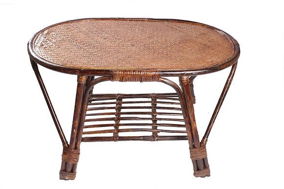 Novelty Cane Art Rattan Oval Table
