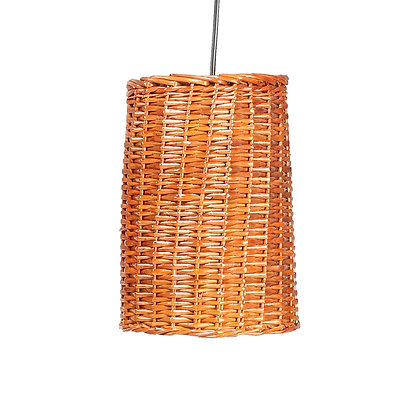 Novelty Cane Art Hanging Willow Wicker Lamp Shade Handcrafted and Natural