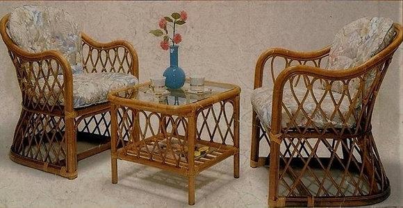 Novelty Cane Art Table and Chair Set :CS2
