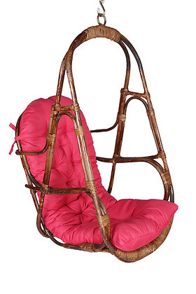 Novelty Cane Art Rattan Compact Swing Chair for Small Spaces