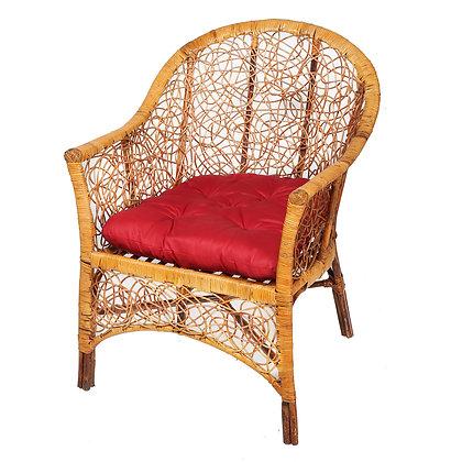 Novelty Cane Art Handmade Rattan Cane Chair with Inclusive Cushion