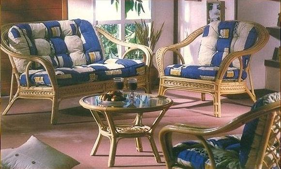 Novelty Cane Art Living Room 4 Seater Rattan Modern Sofa Set with Cushion