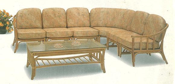 Novelty Cane Art Living Room 7 Seater Rattan Modern Sofa Set with Cushion