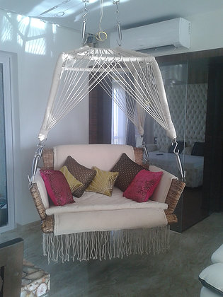 Novelty Cane Art TWO SEATER WICKER COUCH SWING: COUCHSWING