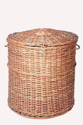 Novelty Cane Art Willow Wicker Laundry Basket/Storage Container(Washable)