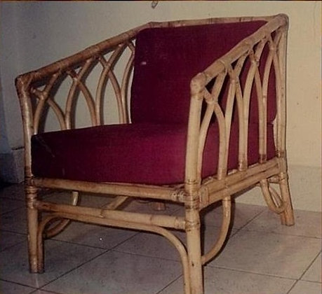 Novelty Cane Art Chair With Cushion: CH53
