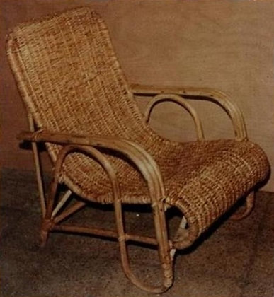 Novelty Cane Art Chair With Cushion: WCH38