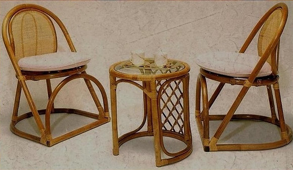 Novelty Cane Art Table and Chair Set : CS1