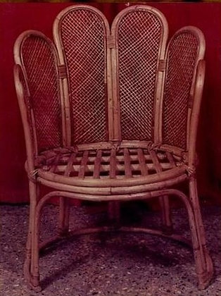Novelty Cane Art Chair With Cushion: CH26