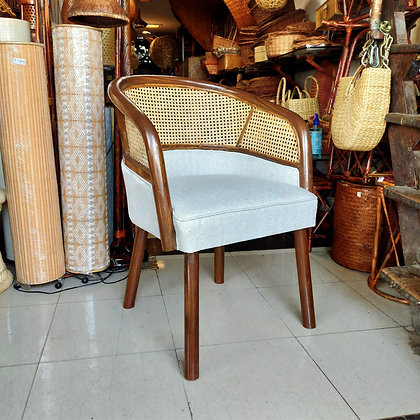 Novelty Cane Art Wooden Chair With Cane Weaving #2