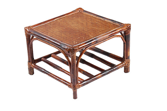 Novelty Cane Art Rattan Square Side Table (Low HIEGHT): ST1M12X12SQLOW