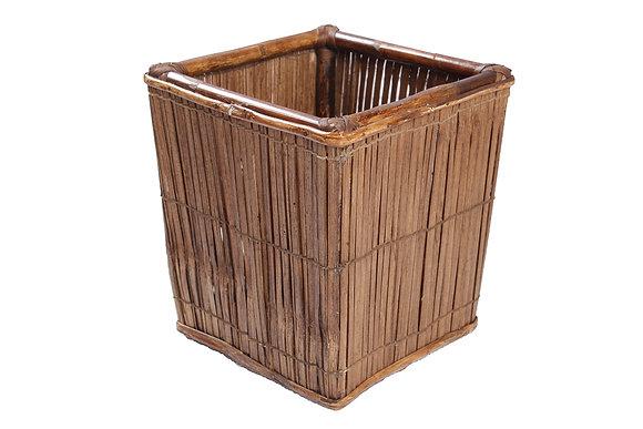 Novelty Cane Art Bamboo Contemporary Storage Basket