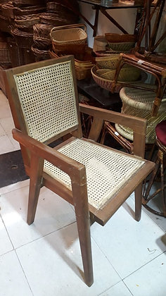 Novelty Cane Art Wooden Chair With Cane Weaving #7