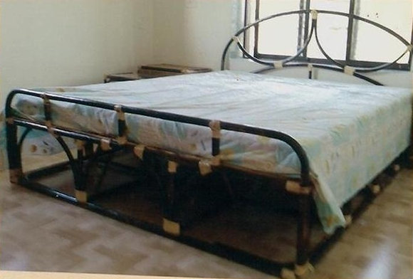 Novelty Cane Art RATTAN DOUBLE BED: DB20