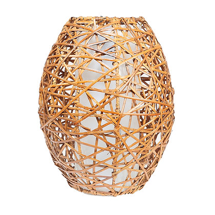 Novelty Cane Art Hanging Rattan Wicker Lamp Shade Handcrafted and Natural